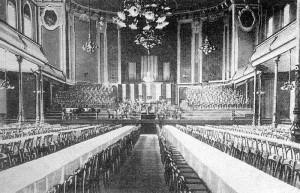 Der Kaisersaal bei einer Tischveranstaltung