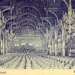 Diese Karte stellt ein Kuriosum dar: Die Kartenunterschrift verweist auf die Tonhalle Düsseldorf. Es handelt sich aber um den Saal des Gürzenich in Köln.