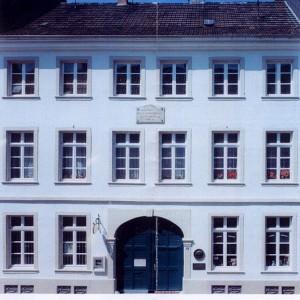 1854 - Das letzte Wohnhaus Schumanns in  Düsseldorf - Bilker Str. 15, dem Sitz der Schumann-Gedenkstätte und dem Sitz der Robert-Schumann-Gesellschaft.