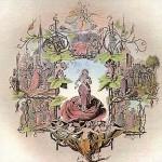 """1852 - Kolorierte Titelseite der Originalpartitur  von """"Der Rose Pilgerfahrt"""". Das Titelblatt dieser Partitur schuf der Düsseldorfer Maler Theodor Mintrop (1814-1870), der dem Musikverein verbunden war, im Jahre 1852."""