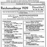 1939 - ReichsmusiktageAnkündigungsplakat in einer Berliner Zeitung