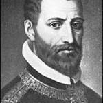 Arcadelt, Jacob (1504-1568)  Jakob Arcadelt, auch: Jachet Arkadelt, Archadelt, Hercadelt, Arcadet und Arcadente, auch Jacobus Flandrus [1], (* 1504, 1506 oder (unwahrscheinlicher) 1514; � nach 1562, möglicherweise 4. Oktober 1568 in Paris) war ein niederländischer Komponist und Kapellmeister.  Herkunft: Die niederländische Herkunft Arcadelts ist durch die Tatsache sichergestellt, dass er in einer Eintragung des päpstlichen Kapellregisters Jacobus Flandrus genannt wird. Sein Geburtsort lässt sich nicht mit abschlie�ender Sicherheit festlegen. Van der Straeten vermutet anhand archivalischer Funde, in denen er Namen antraf, die er mit dem Komponisten in Verbindung bringt, dass Arcadelt in Brügge oder Brabant geboren sei. Wer der Lehrmeister Arcadelts gewesen war, ist unbekannt. Behauptungen, Arcadelt sei ein Schüler Josquins gewesen (Walther behauptet dies in seinem Lexikon), erscheinen aus zeitlichen Gründen unwahrscheinlich, Josquin starb bereits 1521. Das Jahr der �bersiedlung nach Italien ist unbekannt, Beweise für das von Fétis angegebene Jahr �gegen 1536� fehlen.  Geburtsjahr: Van der Straeten gibt als Geburtsjahr Arcadelts das Jahr 1514 (oder um dieses Jahr herum) an: « Arcadelt figure dans la chapelle Julienne sous la dénomination de Jacomo Fiamingo et avec le titre de � premier Maitre �, à partir de 1539. En lui assignant 25 ans, à cet date, on arrive à placer approximativement l�année de sa naissance en 1514. » Angenommen also, Arcadelt sei 1514 geboren, so hätte er bereits mit 18 Jahren seine ersten geistlichen Kompositionen � drei vierstimmige Motetten � im zweiten Band von Jacques Modernes Motetti del fiore (Lyon, 1532) herausgegeben und seine ersten weltlichen Tonsätze mit 23 Jahren veröffentlicht.  Das gelegentlich unter Arcadelts Namen gesungene vierstimmige Ave Maria stammt in der bekannten Form nicht vom Komponisten, vielmehr handelt es um eine Bearbeitung einer dreistimmigen weltlichen Chanson Arcadelts aus der Feder des französischen Komponisten und