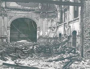 Rittersaal der Tonhallenach dem Bombenangriff 1943