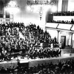 Konzert mit Walter Giesekingim Jahre 1942 im Kaisersaal der Tonhalle Düsseldorf