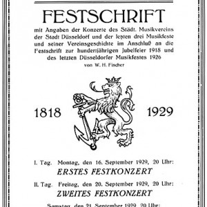 Festschrift und Chronikbuch in Fortführung der Chronik von 1926 von W.H. Fischer.