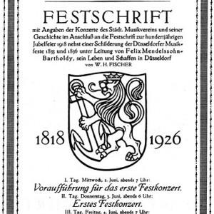 Festschrift und Chronikbuch in Fortführung der Chronik von 1918 von W.H. Fischer.