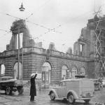 Rückwärtige Seite der zerstörten Tonhalle Düsseldorf