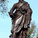 """Das """"neue"""" Mendelssohn Denkmal in Leipzig nach der Wiederaufstellung im Jahre 2006."""