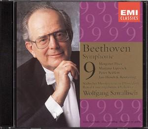 """EMI 7 54505 21 CD© 1992 Beethoven: Symphonie Nr. 9 """"Choral"""" Price . Lipovsek . Seiffert . Rootering Der Chor des Städtischen Musikvereins zu Düsseldorf Royal Concertgebouw Orchestra Wolfgang Sawallisch"""
