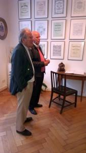Sir Neville Marriner und Manfred Hill im Schumann-Haus