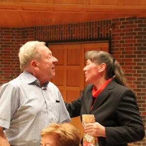 50 Jahre Musikverein Glückwunsch von Kristina Miltz an Walter Pietzmann