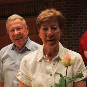 Dank an das Ehepaar Pietzmann für viele lange Jahre Hilfe und Unterstützung im Musikverein.