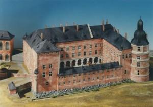 Modell des Düsseldorfer Schlosses vor 1755 (Stadtmuseum Düsseldorf)