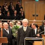 25.10.2015: Verabschiedung von Reinhard Kaufmann nach der Mattinée des Verdi-Requiem.