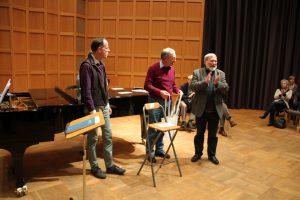 Verleihung des 1. Preises: Ein kulinarisches Konzert, gestiftet von unserem Sänger Georg Toth