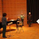 Marieddy Rossetto, Frau Kaufmann, Manfred Hill, Reinhard Kaufmann (v.l.n.r.) beim bewegenden Empfang im Hentrich-Saal der Tonhalle.