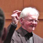 Reinhard Kaufmann beim Abschied vom Chor (Bild Manfred Genseleiter)