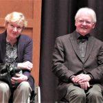Reinhard Kaufmann und seine Gattin bei der Abschiedsveranstaltung im Helmut-Hentrich-Saal (Bild: Manfred Genseleiter)