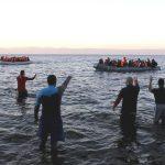 Flüchtlingsboote vor der Insel Lesbos