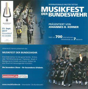 Musikfest der Bundeswehr Konzerte am 23.9.2017