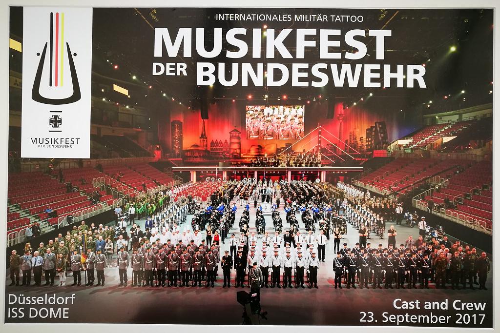 Musikfest der Bundeswehr: Alle Mitwirkenden und Helfer auf einem Bild