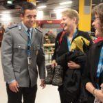 Unser toller Begleitoffizier, Leutnant Kuhnigk mit Ulrike Eitel