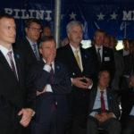 Dr. Reiter, Direktor Aquazoo mit OB Thomas Geisel und Herrn Fischer, Vors. des Fördervereins