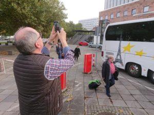 Abfahrt in Chemnitz am Morgen des 4.10.2017