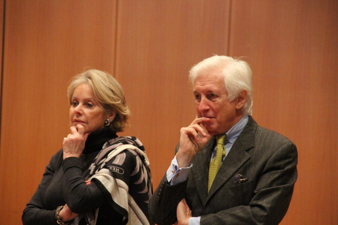 Gisa Berghof und Albert Michael Tilman, dem neuen Vorsitzender der Robert-Schumann-Gesellschaft Düsseldorf.