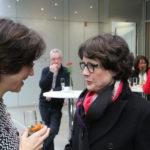 Kulturamtsleiterin Marianne Schirge im Gespräch mit Marieddy Rossetto.