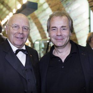 Axel Kober und Manfred nach dem Konzert
