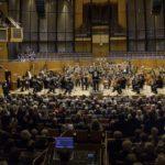 Der Musikverein mal nicht auf dem Chorpodium sondern im Publikum mit einem Glas Sekt zum Jahresbeginn