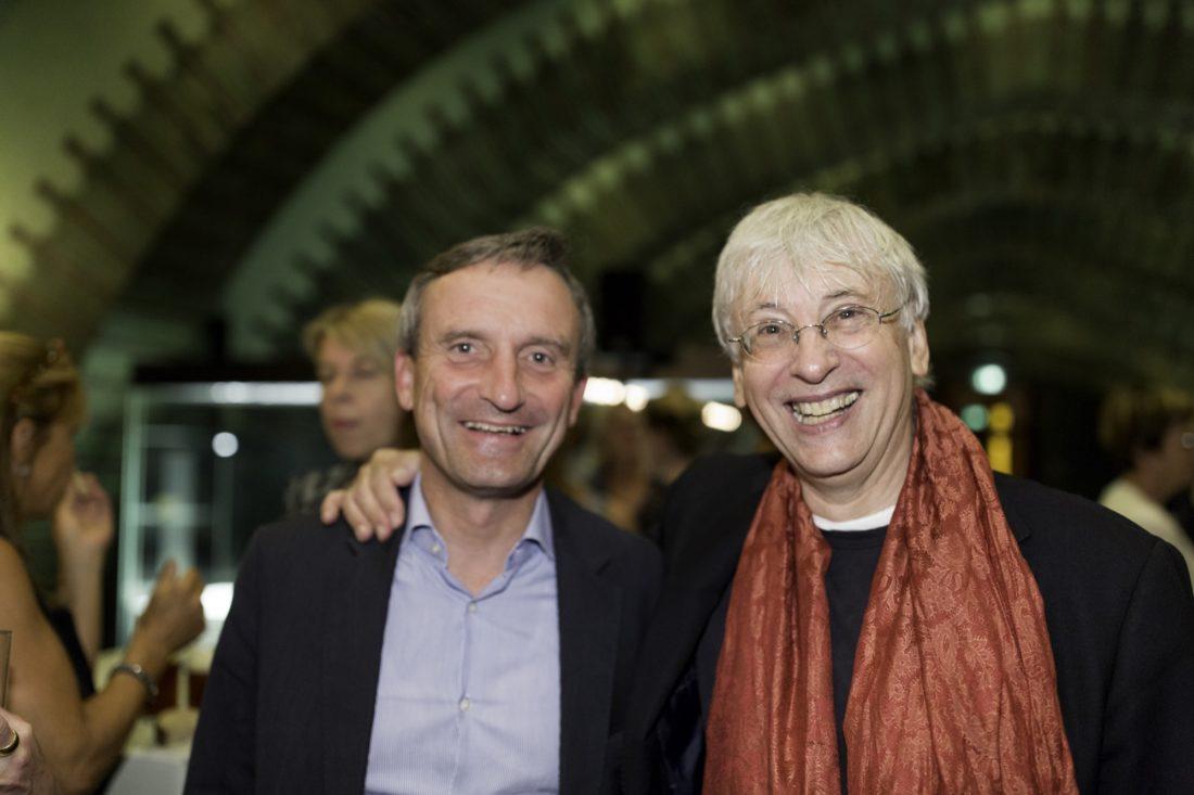 Mario Venzago mit Oberbürgermeister Thomas Geisel