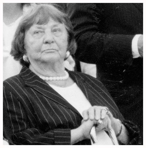 Stiftungsgründerin Mia Herzog im Jahre 2003