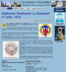 Darstellung des Musikvereins zum Tag der Archive