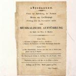 Programmzettel zu Mendelssohns erstem Konzert in Düsseldorf am 22. November 1833