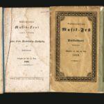 Programmhefte der Musikfeste die unter der Leitung von Felix Mendelssohn Bartholdy in Düsseldorf stattfanden: 1833-1836-1839-1842