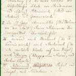 Felix Mendelssohn Bartholdy: Notiz mit Hinweisen auf Sehenswürdigkeiten im Rheinland für die englische Sängerin Clara Novello, Düsseldorf, 20. Mai 1839.