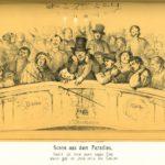 Innenansicht des Düsseldorfer Stadttheaters von Oswald Achenbach