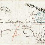 Umschlag eines Briefes von Mendelssohn an Immermann, 11. Januar 1832 aus Paris