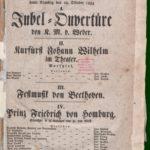 Theater-Zettel zur Eröffnung des Stadttheaters am 28. Oktober 1834