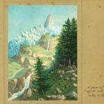 Felix Mendelssohn Bartholdy zugeschrieben: aquarellierte Zeichnung eines Gletschers in Chamonix, o. Jahr