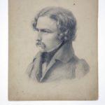 Carl Friedrich Lessing, Bleistiftzeichnung von Carl Ferdinand Sohn, 1829