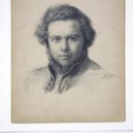 Johann Wilhelm Schirmer, Bleistiftzeichnung von Christian Köhler, 1829