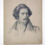 Theodor Hildebrandt, Bleistiftzeichnung von Carl Friedrich Lessing, 1829
