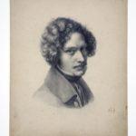 Eduard Bendemann, Bleistiftzeichnung von Heinrich Mücke, 1829