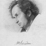 Wilhelm Schadow. Portrait von Joseph von Keller, Kupferstich 1834