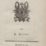 """Titelseite von Heinrich Heines """"Buch der Lieder"""" von 1827"""