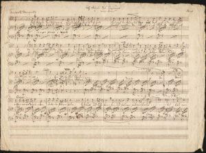 """Felix Mendelssohn Bartholdy: Manuskript des Liedes """"Auf Flügeln des Gesanges"""" nach Heinrich Heine, Düsseldorf 1834/35."""