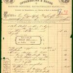 Rechnung für die Aufhängung von Gedenktafeln aus dem Jahre 1887